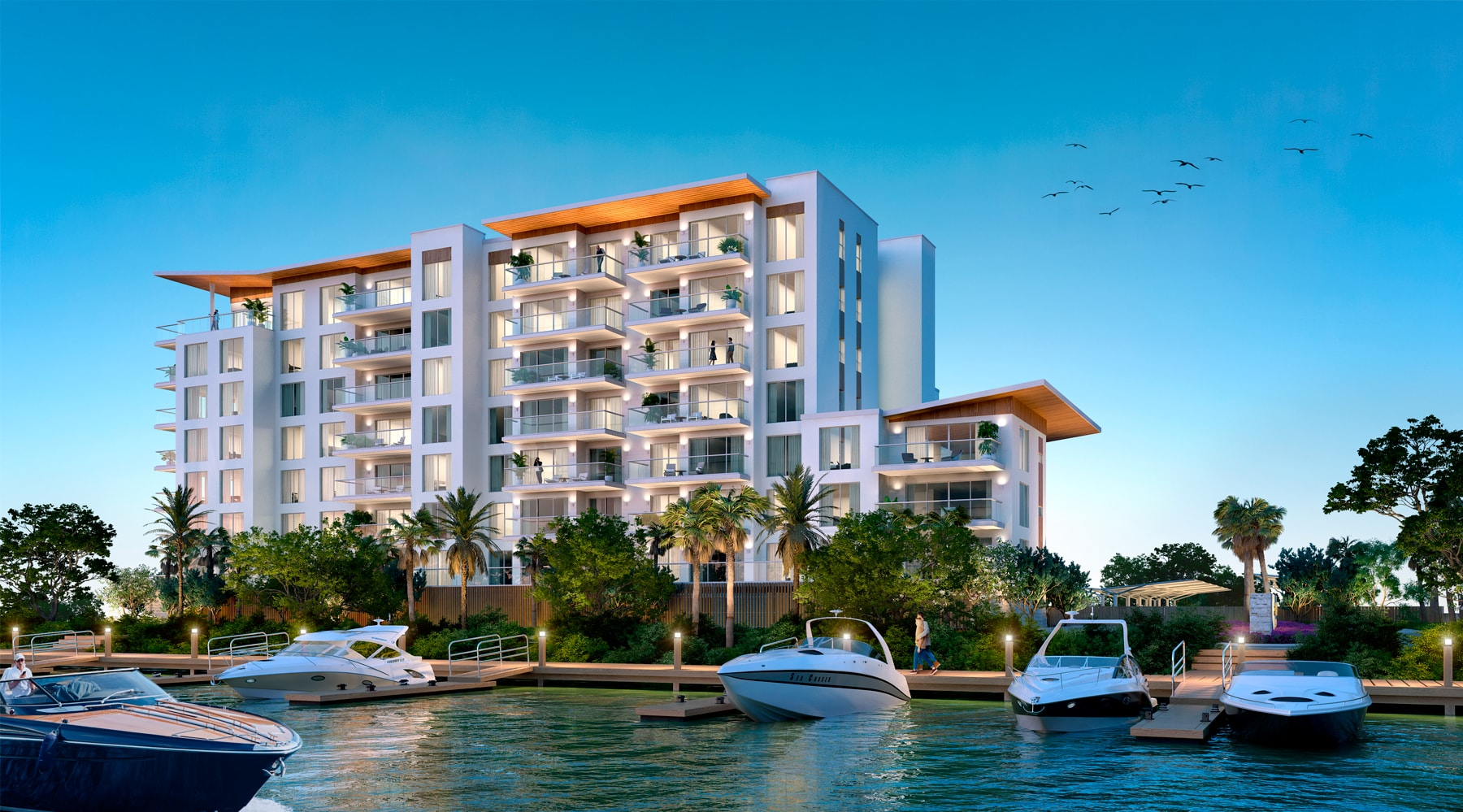 Project waterfront view Serena by the Sea